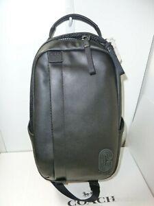 NWT Coach 89908 Edge Pack Smooth Calf Leather - Black