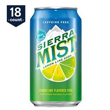 18-PACK Sierra Mist Lemon-Lime Soda Soft Drink Cola, 12 oz Cans