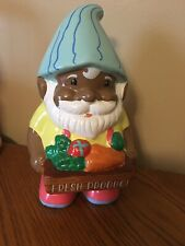 Horizon Group Fresh Produce Garden Gnome African American Ceramic