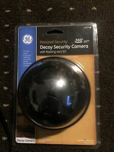 GE 45227 Decoy Security Camera with Flashing Red LED and 360° Rotatable Dome