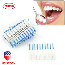 200pc Double Floss Head Hygiene Dental Oral Stick Interdental Brush Toothpick
