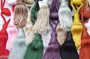 Rope Twist Tassel  Curtain Tie Back.    Assorted Colours Available.