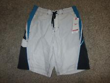 NWT NEW Speedo Swimsuit Watershorts Board Swim Shorts Medium White M MD Tags
