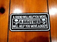 New Brother Body Biker Patches Embroidered Cloth Applique Badge Iron Sew On