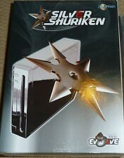 Consola Nintendo Wii completo Shell Carcasa Carcasa Funda Cromo Mod Kit de nuevo!