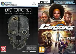 Dishonored Game of the Year Edition & crookz limited special edition  new&sealed