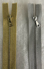 Riri Zip, LUREX (SILVER Or GOLD) Tape, M4 Teeth 100cm Long, Open Ended BRAND NEW