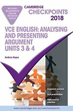 Cambridge Checkpoints VCE English Analysing and Presenting Argument 2018 and Qui