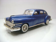 Diecast Solido Chrysler Windsor 1948 1:43 in Blue Very Good Condition