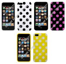 Hybrid TPU Silicone Gel Polka Dot Case for Apple iPhone 5