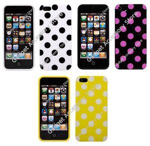 Hybrid TPU Silicone Gel Polka Dot Case for Apple iPhone 5