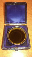 "Vintage Yellow Camera Lens (The"" Wellington"") light filter, brass jewellery case"