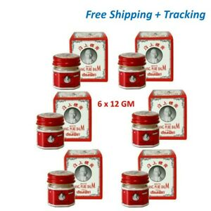 6x Muscle Pain Siang Pure White Balm Relieve Sprain Bruises Insect Bites 12 gm
