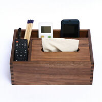 Wooden Tissue Holder Napkin Box Desktop Storage Organizer Home Car Decor