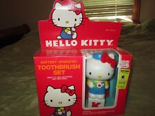 1984 Vtg Sanrio Hello Kitty Battery Electric Toothbrush And Rinse Cup Base MIB