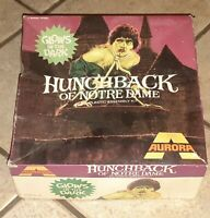 Hunchback of Notre Dame Aurora Model Kit w box Scale 1/8 - 1972 partial started