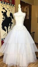 New listing Vintage Wedding Prom Tulle Layered Formal Vintage Petticoat Free Vtg Beaded Bag