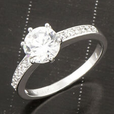 Charming 18K White Gold Filled Clear clear crystal Stone Women's Ring 8