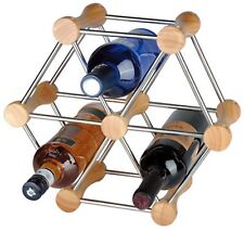 RTA 6 Bottle Hexagon Wine Rack System Extendable Wine Rack Natural Pine