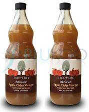 Tree of Life Organic Apple Cider Vinegar - 1 Litre (Pack of 2)