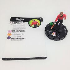 Heroclix Star Trek Away Team set Lt. Leslie #025 Uncommon figure w/card!