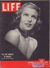 LIFE November 10,1947 Love Goddess in America / Methodists / Oil-Slick Removal