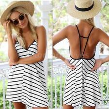 Short/Mini Sundresses Striped Dresses for Women