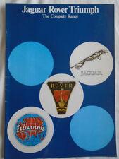 Jaguar Rover Triumph range brochure c1978 ref 3351