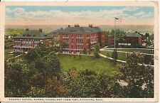 Edgarly School, Normal School and Dormitory Fitchburg MA Postcard 1921