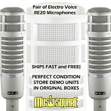 Electro-Voice RE20 Broadcast Mic EV RE-20 PAIR - Price is for 2 Untouched Mics!