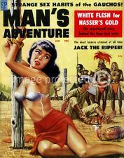 Strange Sex Habits Mans Adventure Vintage Pulp Poster