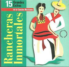 cd B2  VARIOUS RANCHERAS INMORTALES 15 GRANDES EXITOS DE LA CANCION MEXICANA