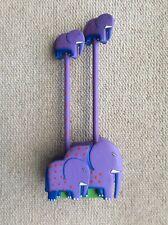 Novelty Purple 2 Pencil Wooden Elephant Set.