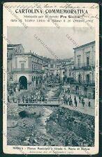 Ragusa Modica Alluvione 1902 cartolina QQ0615