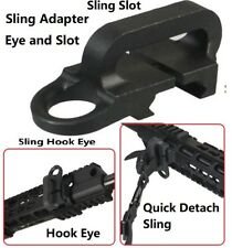 Sling Adapter With Hook Eye and Slot for Quick Detach Strap Weaver Mount