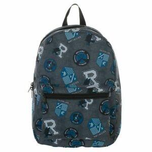 Harry Potter Licensed Ravenclaw Backpack House Magic Spells AOP School Book Bag