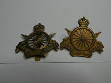 2 WW1 Army Cyclist corps cap badges 1970's Restrikes .