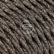 Brown Linen Twisted Cloth Covered Electrical Wire - Braided Linen Fabric Wire