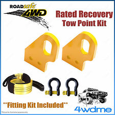 Toyota Prado 120 Series 4WD Roadsafe Rated Recovery Heavy Tow Points FULL Kit
