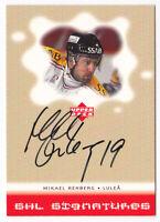 2000-01 Swedish Upper Deck SHL Signatures #MN Mikael Renberg AUTO