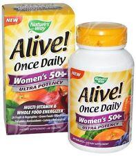 Nature's Way, con vida! una vez al día, mujeres de 50+ Multi-vitaminas, 60 Tabletas
