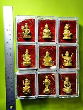 V025-THAI AMULET BRONZE GUMAN BOY RICH LUCKY GAMBLE LP NEN 24K GOLD 9 COMPLETED