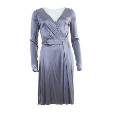 a46ee643b6f076 VERSACE Dress Grey Wrap Long Sleeved 44 / UK 12