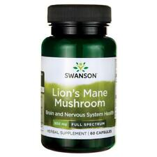 Swanson Lions Mane Mushroom 500mg x 60 Capsules****Free & Fast Delivery