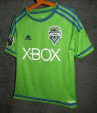 Adidas Seattle Sounders FC MLS Climacool Soccer Jersey XBOX Youth Medium Green