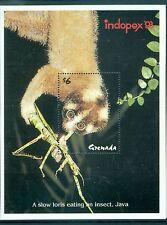 LORIS LENT - SLOW LORIS GRENADA 1993 block