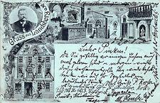 Gruß aus Landsberg a.w., Friedensburg Brauerei, Burghof  Postkarte 1900