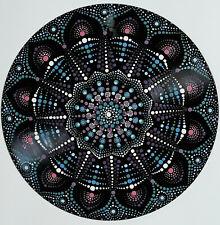 disc-mandala 3 / vinyl record mandala art handmade painting