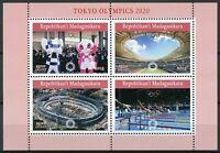 Madagascar 2019 MNH Tokyo Summer Olympics 2020 4v M/S Swimming Sports Stamps