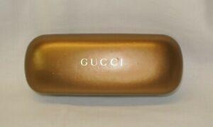 GUCCI Sunglasses Case Golden Brown Chic Fashion Hard Clam Shell Copper Bronze